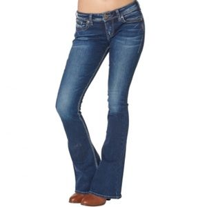 """Silver Jeans Tuesday 20"""" Med Wash Bootcut Sz 28x32"""